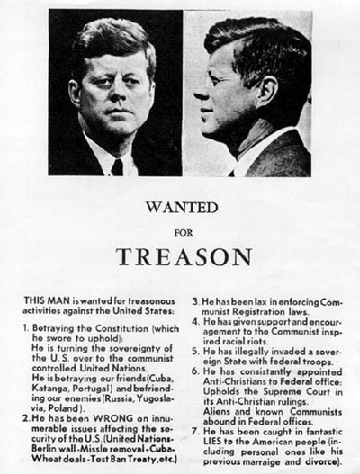"Anti-JFK ""Treason"" poster"
