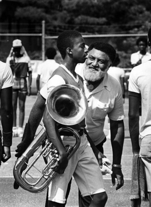Legendary band director Edwin Hampton