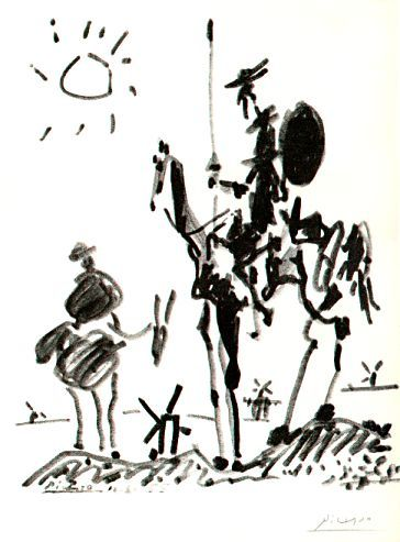 Don Quixote & Sancho by Picasso