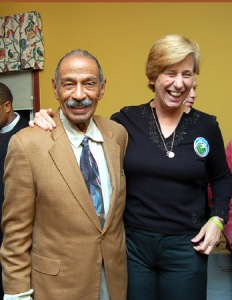 John Conyers and Cindy-Sheehan