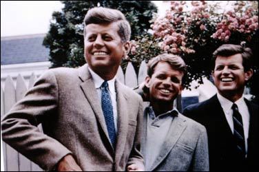 John, Bobby and Teddy Kennedy