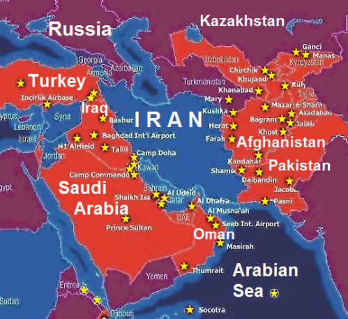 Bases Around Iran