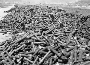 Korean War artillery casings