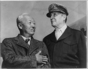 Syngman Rhee and Douglas MacArthur