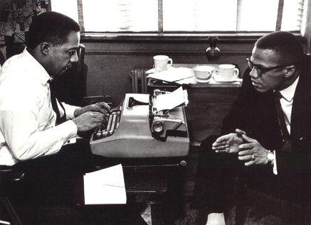 Alex Haley and Malcolm X